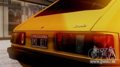Fiat 147 Al Piso für GTA San Andreas Rückansicht