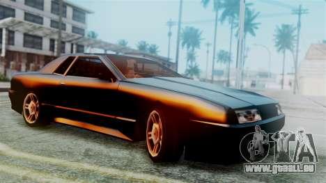 Elegy New Edition pour GTA San Andreas vue arrière