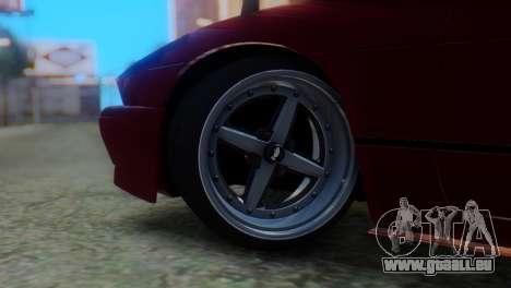 Nissan Silvia S13 Shakotan pour GTA San Andreas sur la vue arrière gauche