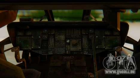 MH-60L Blackhawk für GTA San Andreas Rückansicht