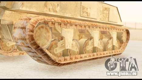M4 Sherman 75mm Gun Desert pour GTA San Andreas sur la vue arrière gauche