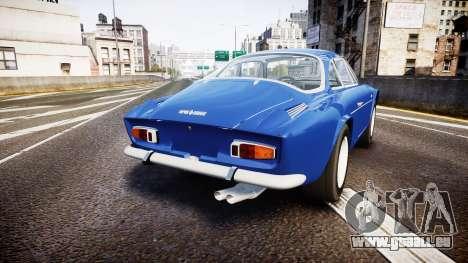Renault Alpine A110 1973 pour GTA 4 Vue arrière de la gauche