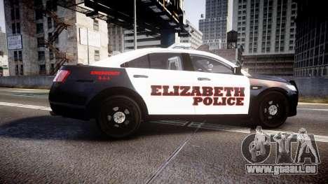 Ford Taurus 2010 Elizabeth Police [ELS] für GTA 4 linke Ansicht