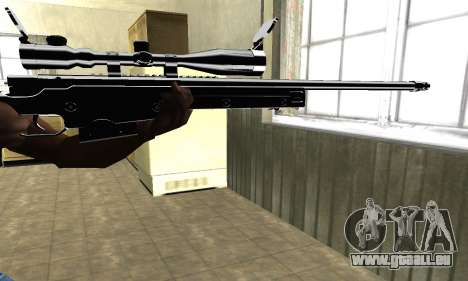 Full Black Sniper Rifle für GTA San Andreas zweiten Screenshot