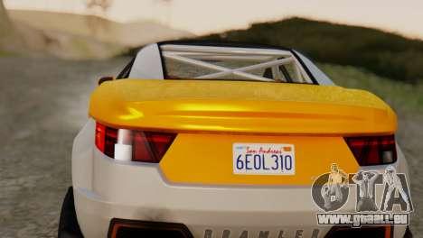 Coil Brawler Gotten Gains für GTA San Andreas zurück linke Ansicht