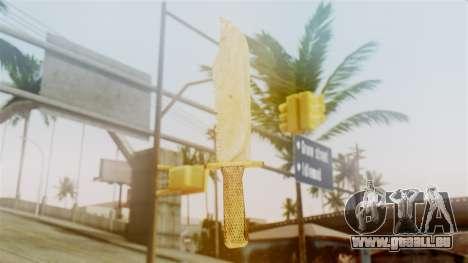 Red Dead Redemption Knife Sergio pour GTA San Andreas deuxième écran