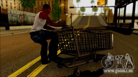 Der trolley im Supermarkt für GTA San Andreas linke Ansicht