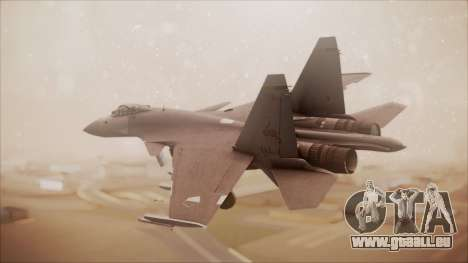 SU-35 Flanker-E Ofnir Ace Combat 5 für GTA San Andreas linke Ansicht