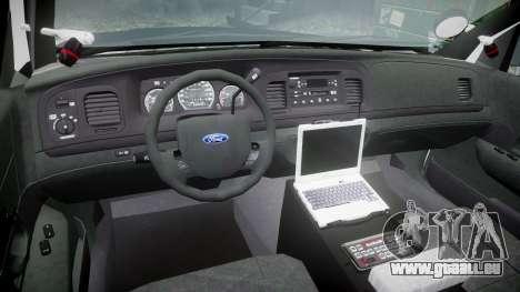 Ford Crown Victoria 2011 LAPD [ELS] rims2 für GTA 4 Rückansicht