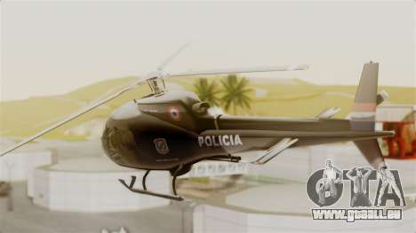 Helicopter National Police of Paraguay für GTA San Andreas linke Ansicht