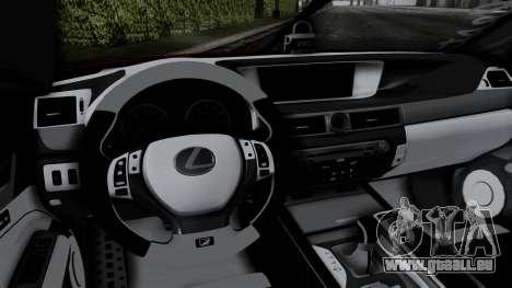 Lexus GS350 Stance Itsuka Kotori für GTA San Andreas Rückansicht
