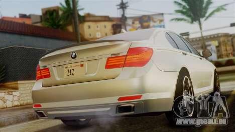 BMW 7 Series F02 2012 pour GTA San Andreas laissé vue