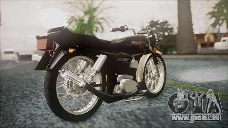 Suzuki AX 100 pour GTA San Andreas laissé vue