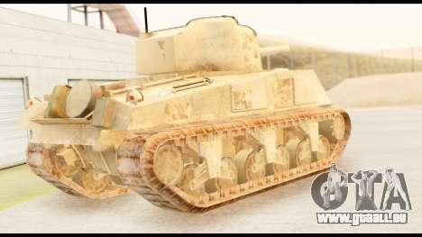 M4 Sherman 75mm Gun Desert pour GTA San Andreas laissé vue