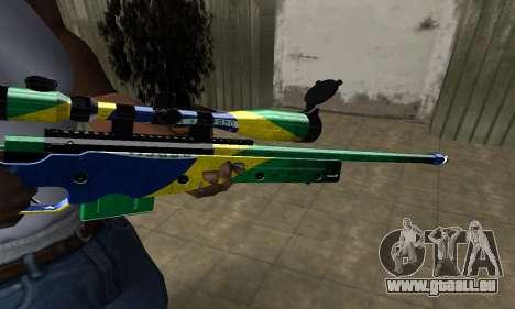 Three Colors Sniper Rifle pour GTA San Andreas deuxième écran