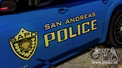 Hunter Citizen from Burnout Paradise SAPD pour GTA San Andreas vue de droite