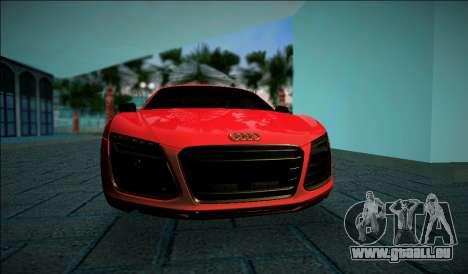 Audi R8 V10 Plus 2014 pour une vue GTA Vice City de la gauche