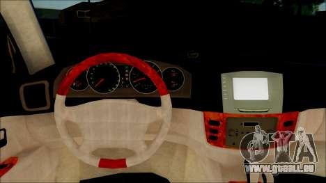 Toyota Land Cruiser 100 UAE Edition für GTA San Andreas Rückansicht