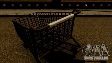 Der trolley im Supermarkt für GTA San Andreas zurück linke Ansicht