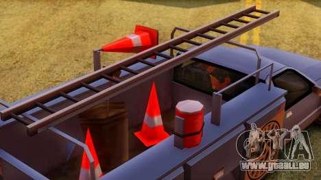 Premier Utility Van pour GTA San Andreas vue arrière