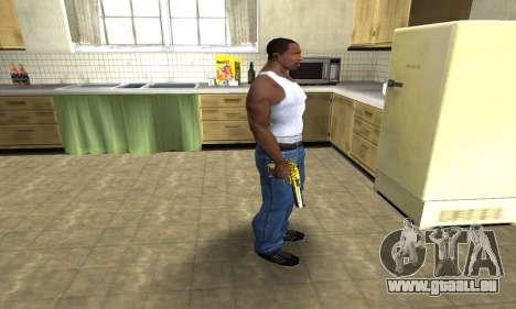 Yellow Deagle pour GTA San Andreas troisième écran