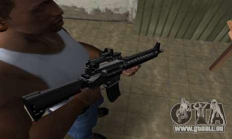 Full Black M4 für GTA San Andreas