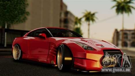 Nissan GT-R R35 Bensopra 2013 pour GTA San Andreas vue de dessous