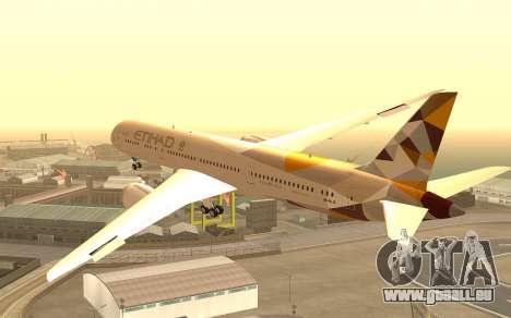 Boeing 787-9 Etihad Airways für GTA San Andreas linke Ansicht