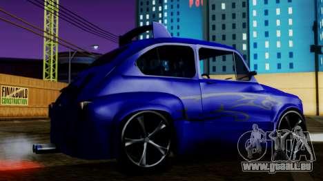 Zastava 750 Tuning für GTA San Andreas zurück linke Ansicht