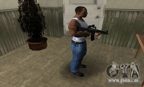 Full Black M4 für GTA San Andreas dritten Screenshot