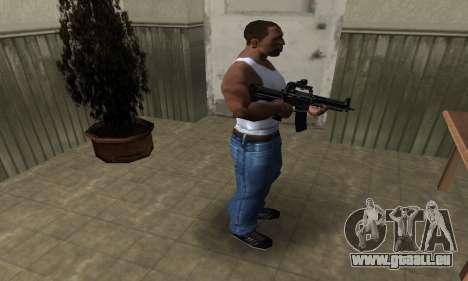 Full Black M4 für GTA San Andreas dritten Screenshot