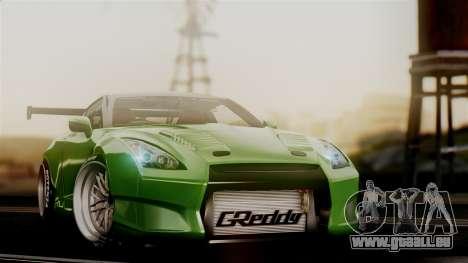 Nissan GT-R R35 Bensopra 2013 für GTA San Andreas Rückansicht