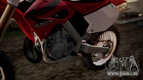 Honda CR125 für GTA San Andreas rechten Ansicht