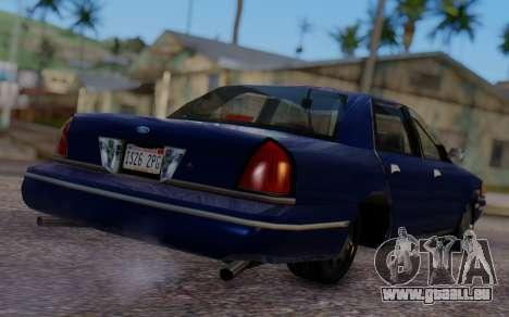 Ford Crown Victoria Civillian pour GTA San Andreas laissé vue