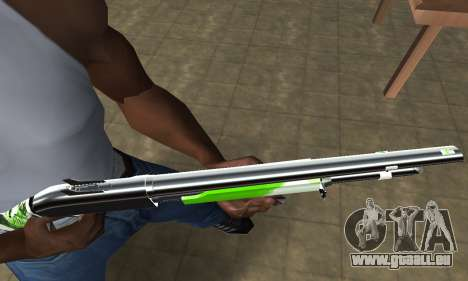 Green Lines Shotgun pour GTA San Andreas deuxième écran