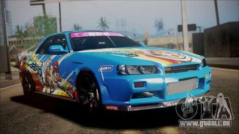 Nissan Skyline ER34 Duck Attack Team für GTA San Andreas