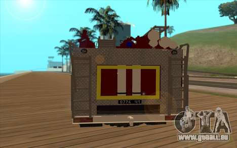 Oural 5557-40 le Ministère des situations d'urge pour GTA San Andreas vue de droite
