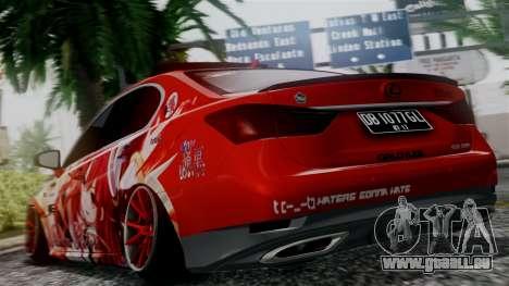 Lexus GS350 Stance Itsuka Kotori pour GTA San Andreas laissé vue