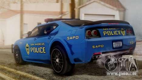 Hunter Citizen from Burnout Paradise SAPD für GTA San Andreas linke Ansicht
