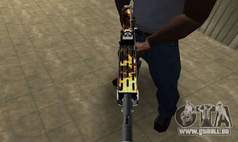 Brighty Yellow Combat Shotgun für GTA San Andreas