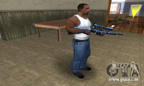 Blue Limers Sniper Rifle pour GTA San Andreas troisième écran
