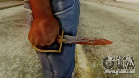 GTA 5 Antique Cavalry Dagger v2 pour GTA San Andreas troisième écran