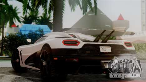 NFS Rivals Koenigsegg Agera R Racer pour GTA San Andreas laissé vue