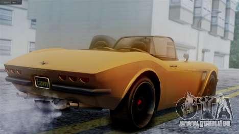 GTA 5 Invetero Coquette BlackFin für GTA San Andreas linke Ansicht