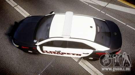 Ford Taurus 2010 Elizabeth Police [ELS] für GTA 4 rechte Ansicht