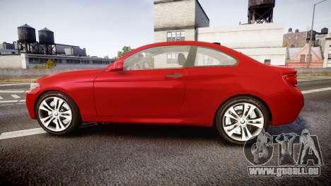 BMW M235i pour GTA 4 est une gauche