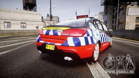 Holden VF Commodore SS Highway Patrol [ELS] pour GTA 4 Vue arrière de la gauche