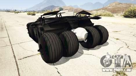 GTA 5 Batmobile v0.1 [alpha] hinten links Seitenansicht