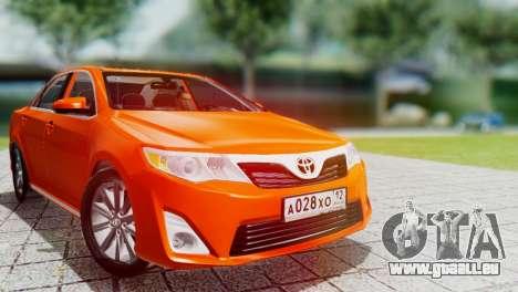 Toyota Camry 2012 für GTA San Andreas