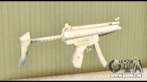 MP5 avec un stock pour GTA San Andreas deuxième écran